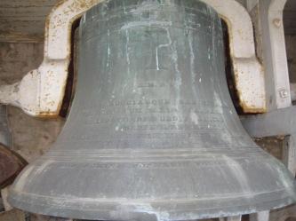 Latin inscription on largest bell