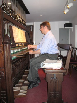 Jim at carillon console