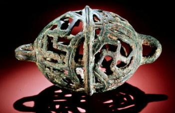 Luristan bronze bell, ca. 800-700 BCE